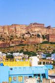 Une vue de jodhpur, la ville bleue du rajasthan — Photo
