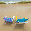 Beach with two chairs for relaxing — Stock Photo #18986487