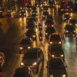 traffic at Main Road in Bangkok at night — Stock Photo