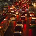 Traffic at Main Road in Bangkok at night — Stock Photo #19072067