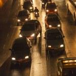 Traffic at Main Road in Bangkok at night — Stock Photo #19073813