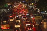 Traffic at Main Road in Bangkok at night — Photo