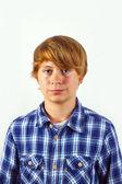 Portrét krásný usměvavý chlapec — Stock fotografie