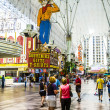 Fremont Street Experience an attraction in downtown Las Vegas - Stock Photo