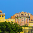 Hawa Mahal in late afternoon light - Stock Photo