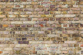Pattern of brick wall with harmonic colors — Stock Photo