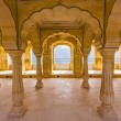 Columned hall of Amber fort. Jaipur, India — Stock Photo #19341687