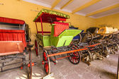 Collection of coaches in the City Palace in Jaipur, India. — Stock Photo