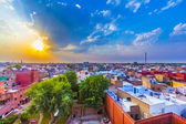 Cityscape of Bikaner, old indian City in Rajasthan with a famous — Stock Photo