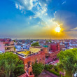 Stock Photo: Cityscape of Bikaner, old indiCity in Rajasthwith famous