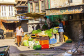At the vegetable market in Bikaner — Stock Photo
