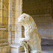 The water lion in the beautiful Jeronimos Monastery in Lisbon — Stock Photo