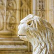 The water lion in the beautiful Jeronimos Monastery in Lisbon - Stock Photo
