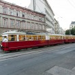Vintage tram in Motion — Stock Photo #19497767