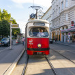 Stock Photo: Vintage tram in Vienna in motion