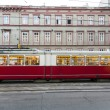 Vintage tram in Vienna in motion — Stock Photo #19498093