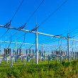 Electrical power plant in farmland area — Stock Photo #19597269