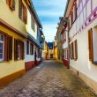 Street with old timbered houses — Stock Photo