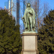 Statue of Friedrich Schiller in Frankfurt - Stock Photo