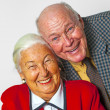 Happy elderly couple enjoy life - Stock Photo