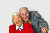 Happy elderly couple enjoy life — Stock Photo