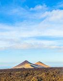 Volcano in timanfaya national park in Lanzarote, Spain — Stock Photo