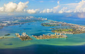 Aerial of coastline Miami — Stock Photo