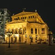 Lte Oper at night  in Frankfurt - Stock Photo