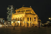 Lte Oper at night in Frankfurt — Stock Photo