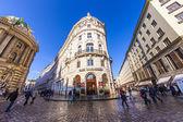 ウィーンで有名な coffeehaus カフェ griensteidl — ストック写真
