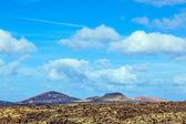 Volcanic landscape taken in Timanfaya National Park, Lanzarote, — Stock Photo