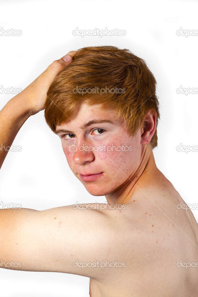 Handsome attractive young man in puberty — Stock Photo #19966759