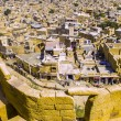 Stock Photo: Aerial view of Jaisalmer City, Rajasthan, India
