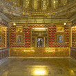 Inside the City Palace  in Udaipur - Stock Photo