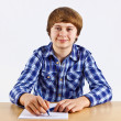 Smart boy learning for school - Stock Photo