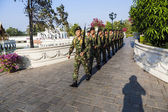 Changing the guard in Bang Pa In — Stock Photo