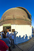 At the entrance of the Zeiss telescope at the Griffith ob — Stock Photo