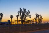 Generische motel an der autobahn im sunrise — Stockfoto