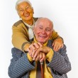 Portrait of happy elderly senior couple — Stock Photo