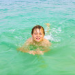Boy enjoys swimming in the ocean — Stock Photo #20589359