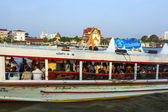 In the boat at the river Mae Nam Chao Phraya in Bangkok — Stock Photo