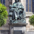 Statue of author Christoph vom Schmid in Dinkelsbuehl — 图库照片