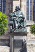 Statue of author Christoph vom Schmid in Dinkelsbuehl — Stock Photo