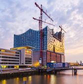 Construction site of the new Elbphilharmonic building in the Har — Stock Photo