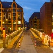 Stock Photo: Speicherstadt in Hamburg by night