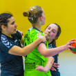 Handball Match Ladies WSG C2 TS against  HSG DILLTAL — Foto de Stock