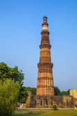 Qutub Minar Tower or Qutb Minar in Delhi, India — Stock Photo