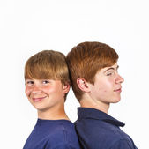 Cute handsome brothers having fun together — Stock Photo
