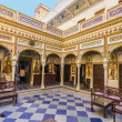 Rooms inside the Heritage Mandawa hotel — Stok fotoğraf