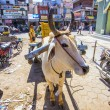 Ox cart transportation in india — 图库照片